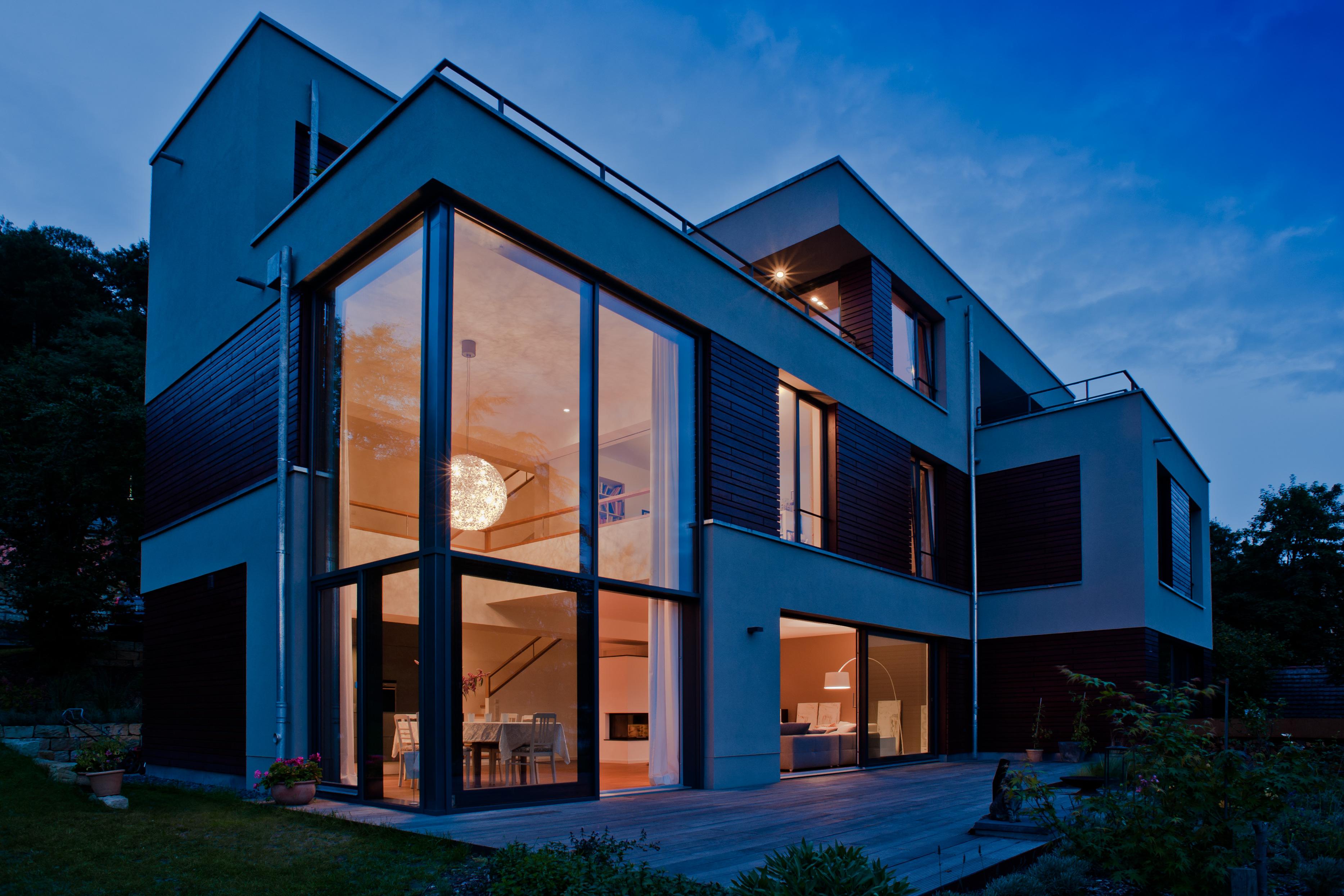 Gartenansicht mit Terrasse, Haus T, Dresden