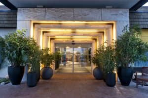 Eingang des Grand City Airport Hotel