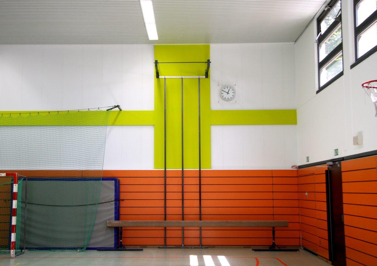 Sporthalle, Innenansicht, Nordgrundschule, Berlin