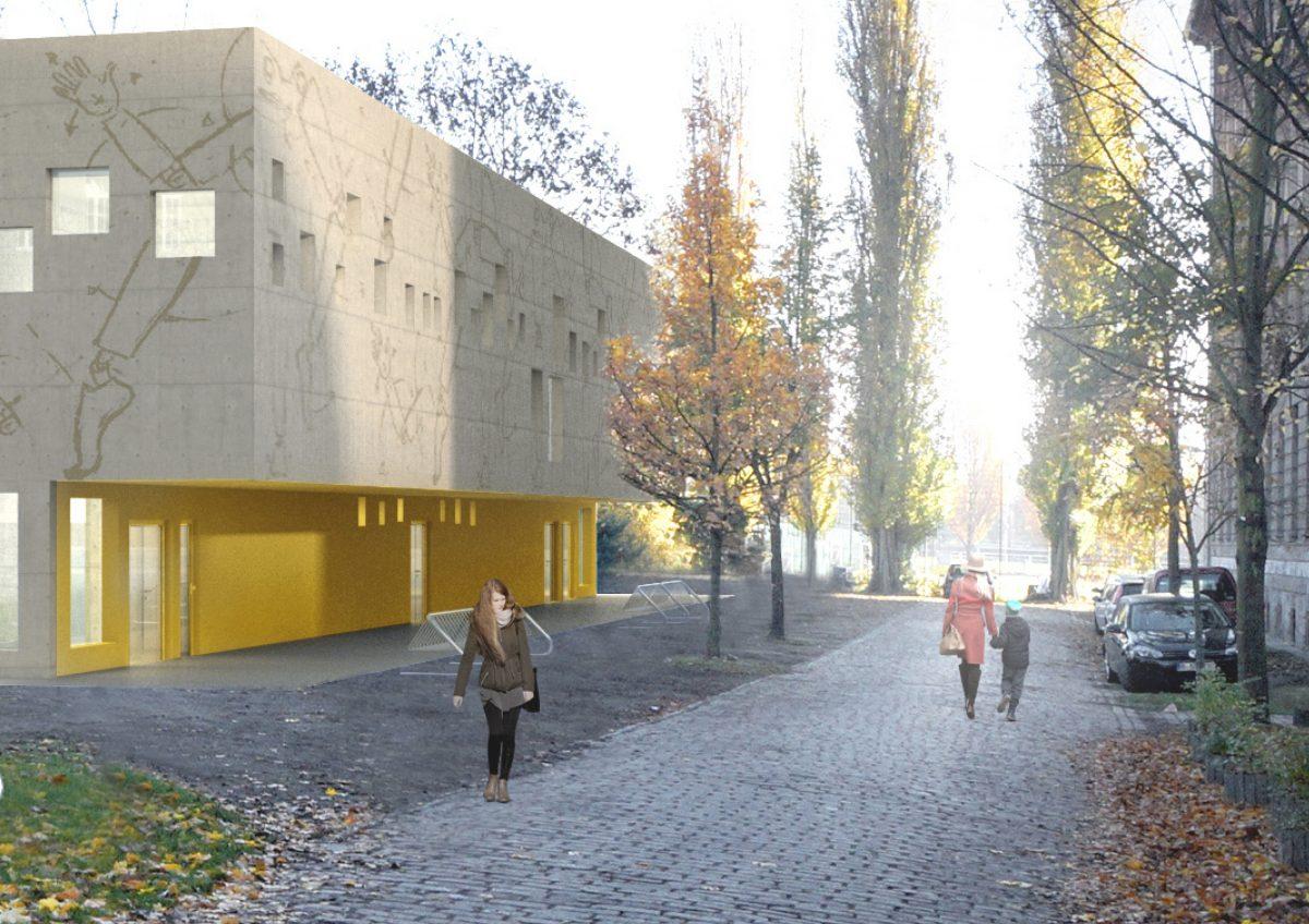 Fassadengestaltung, Emanuel Lasker Grundschule