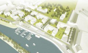 Rendering Lageplan, Hafen City Dresden