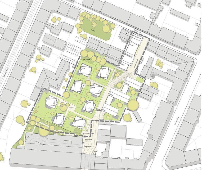Lageplan, Hofquartier Bautzner Straße, Dresden