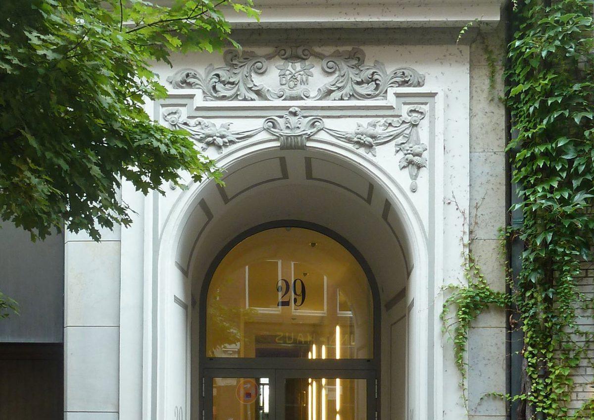 Eingang, Sir Nikolai Hotel, Hamburg