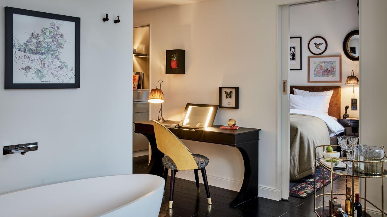 Zimmer mit Badewanne, Sir Nikolai Hotel, Hamburg