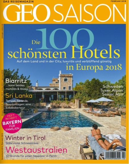 Das sind die schönsten Hotels Europas – laut Geo Saison: 2 Stück davon sind von TSSB!