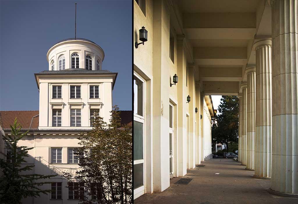 Turm und Eingang, Beethoven Gymnasium, Berlin