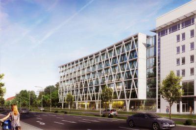 Fassadenansicht, Gemeinsame Hauptverwaltung DREWAG/ ENSO