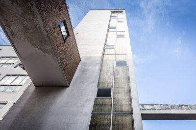 Fassadenansicht der Industrieliegenschaft Beeskowdamm