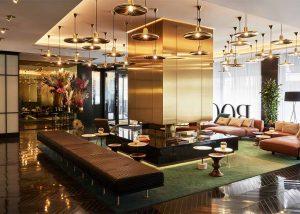 Lobby mit Wartebereich, Roomers Hotel München