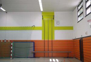 Sporthalle, Wanddetail, Nordgrundschule, Berlin