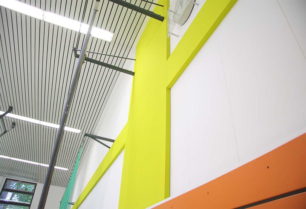 Wanddetail, Sporthalle, Nordgrundschule, Berlin