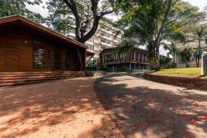 Cafeteria, Bibliothek, alte Villa, Goethe Institut Yangon – Myanmar