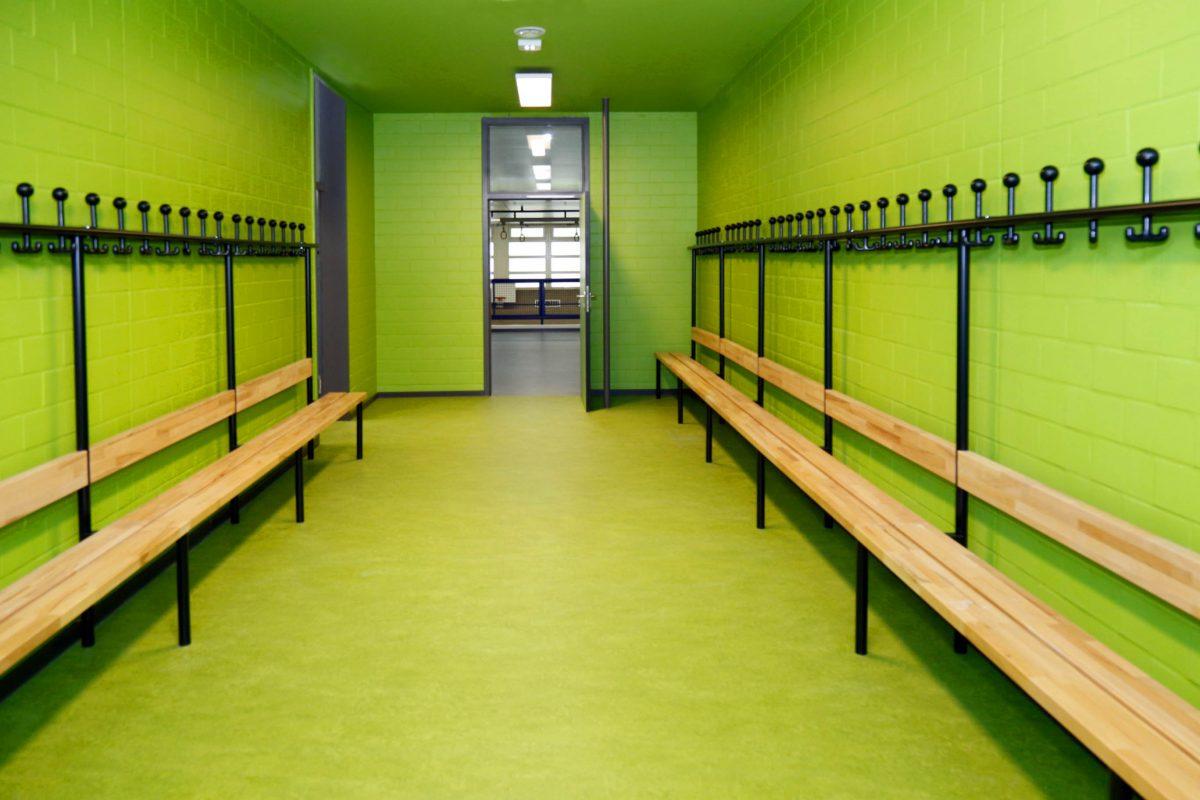 Umkleiden der Bröndby-Oberschule in Berlin