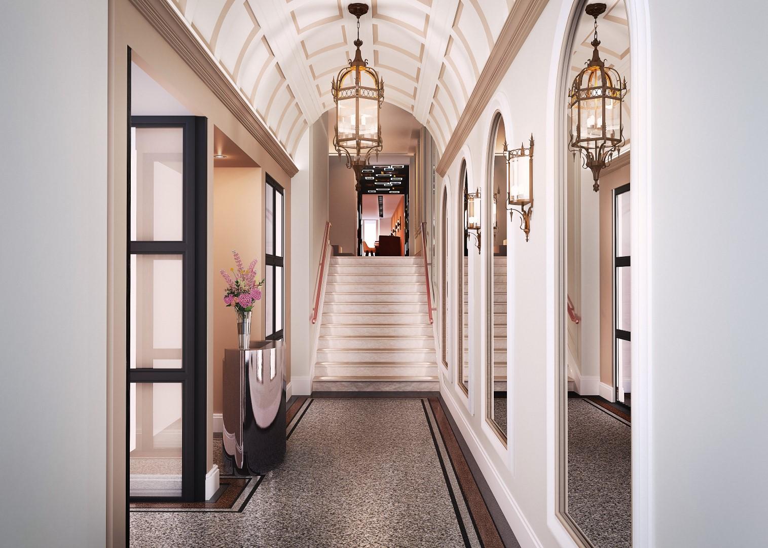 Eingangsbereich, Sir Nikolai Hotel, Hamburg