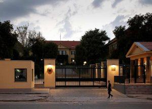 Zufahrt der Deutschen Botschaft in Ankara