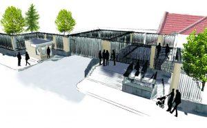 Entwurfsskizze der Deutschen Botschaft in Ankara