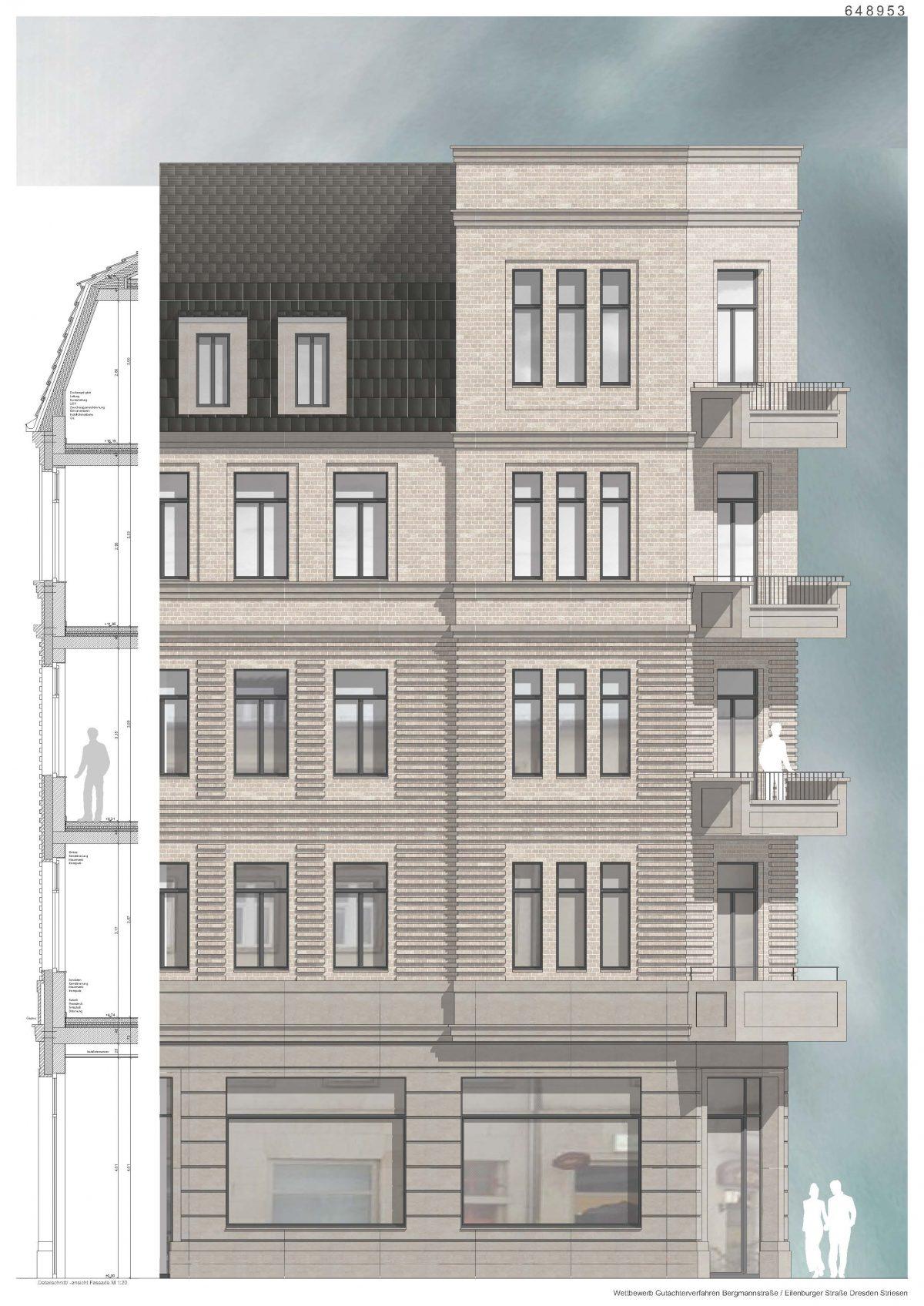 Fassadendetails, Bergmannstraße, Dresden