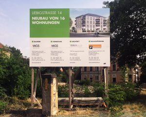 Bauschild, Liebigstraße– Dresden