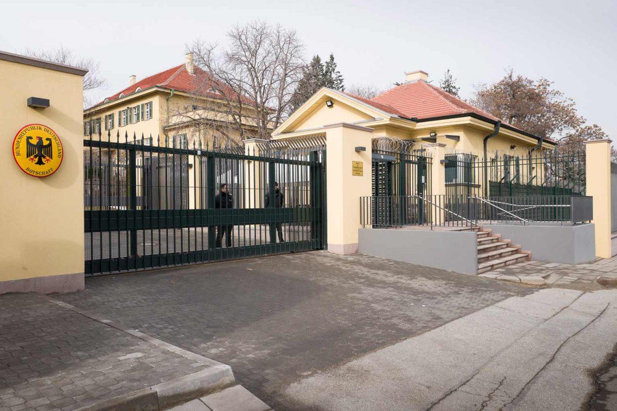 Sicherheitsschleuse der Deutschen Botschaft in Ankara