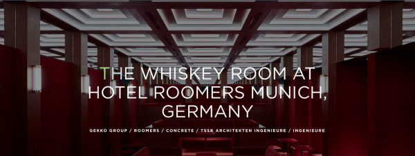 Ahead Europe Award 2019, Whisky Room, Roomers Hotel, München