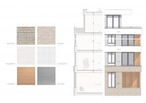 Fassadendetails, Materialien, Seniorenresidenz Duisburg