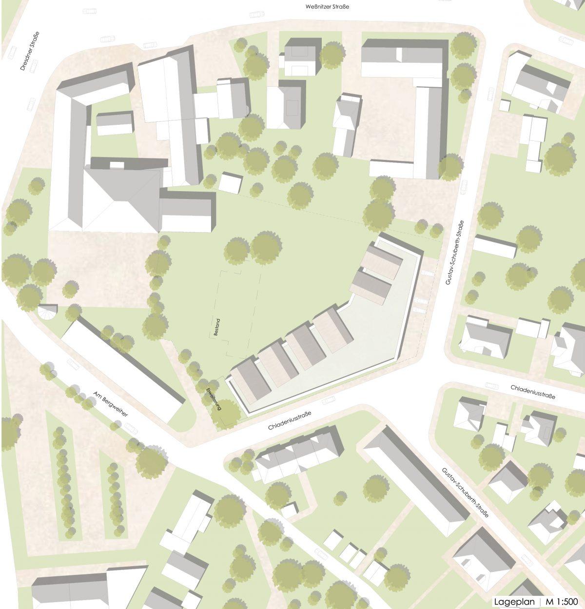 Lageplan, Kindertagesstätte, Großenhain
