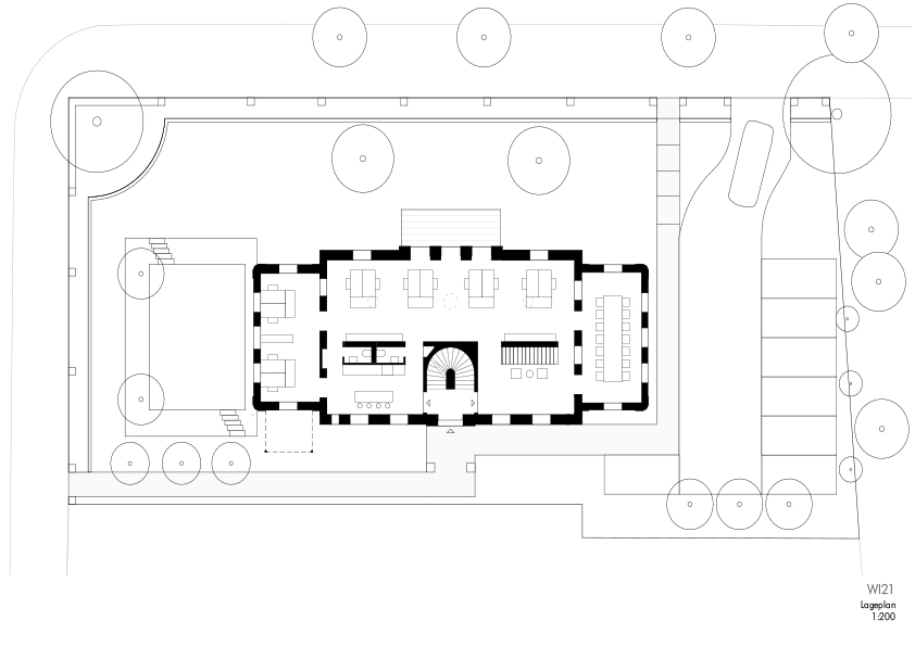 Die Behrsche Villa Lageplan